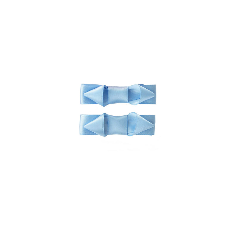 Ribbon Hair Slide Set, Blue
