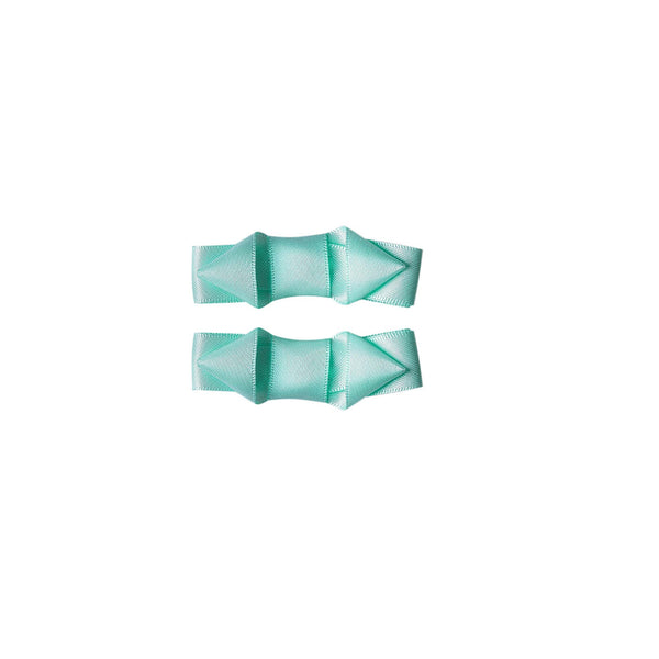 Ribbon Hair Slide Set, Mint