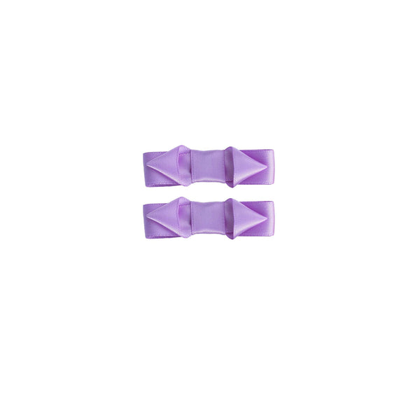 Ribbon Hair Slide Set, Lilac