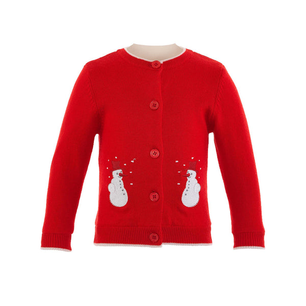 Snowman Applique Cardigan