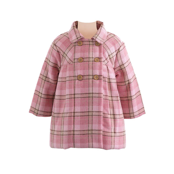 Checked Pleated Pram Coat