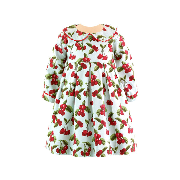 Cherry Pleated Dress & Bloomer