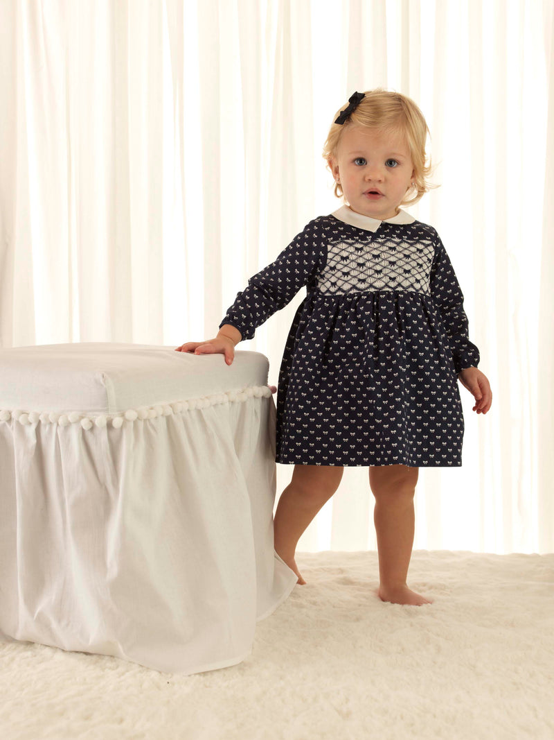 Bow Smocked Dress & Bloomer