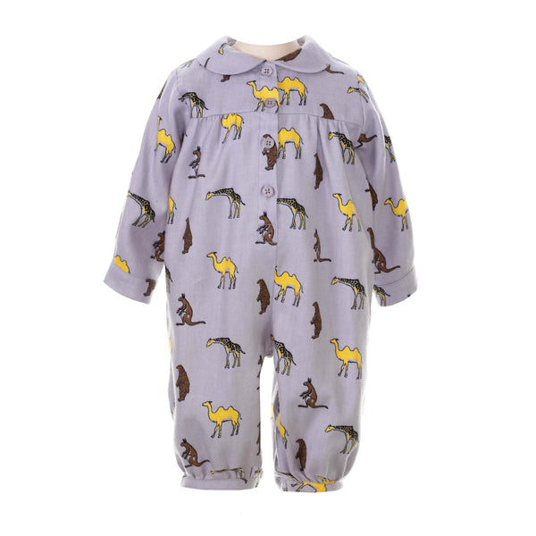 Safari Flannel Babysuit