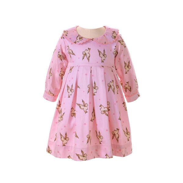 Owl Pleated Dress