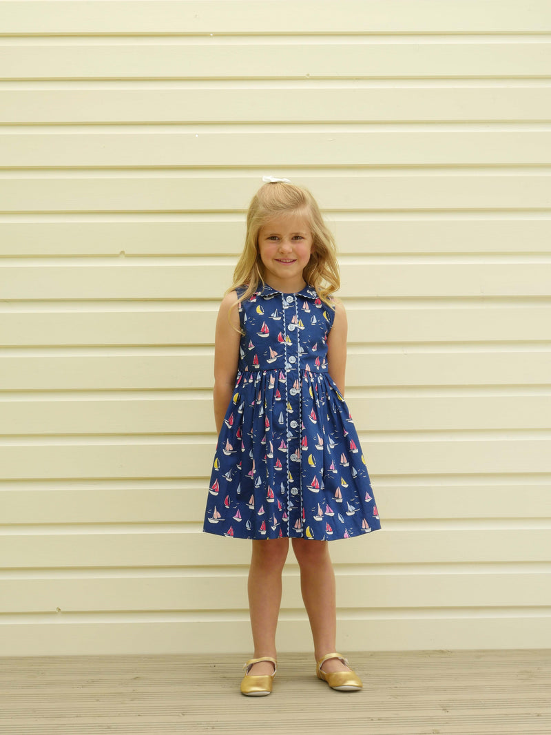 Sailboat Button Front Dress