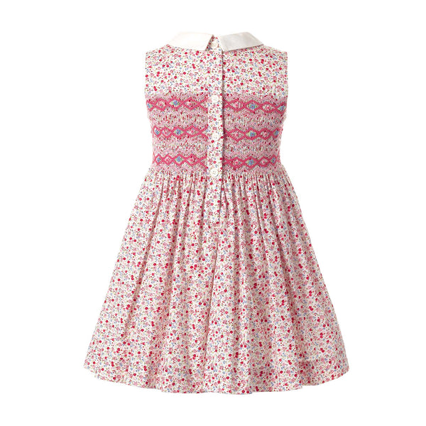Ditsy Floral Smocked Dress Pink