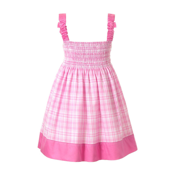 Checked Smocked Sundress