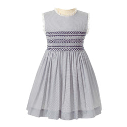 Pindot Smocked Dress