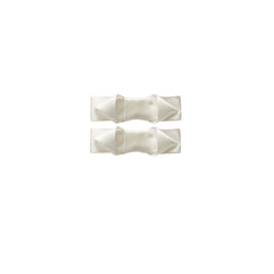 Ribbon Hair Slide Set, Ivory