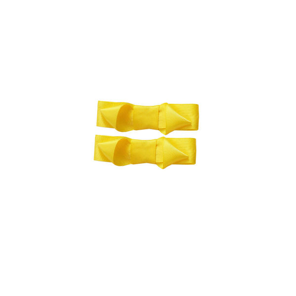 Ribbon Hair Slide Set, Yellow