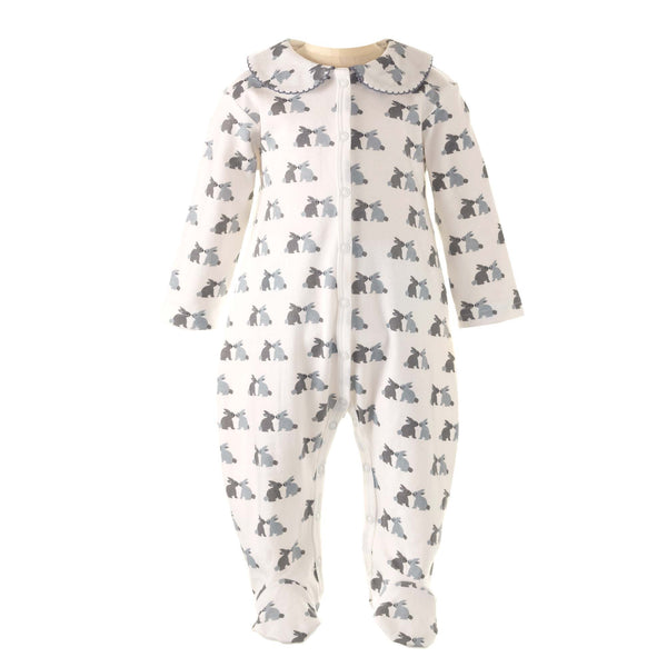 bunny babygrow, bunny onesie for babies, baby clothes, baby outfit, baby footie, footed sleeper for babies, one piece footie, sleeper, baby sleepsuit, toddler sleepsuit, newborn sleepsuit, newborn outfit, newborn clothes