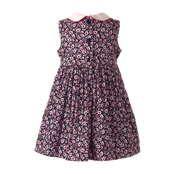 Vintage Floral Smocked Dress & Bloomer