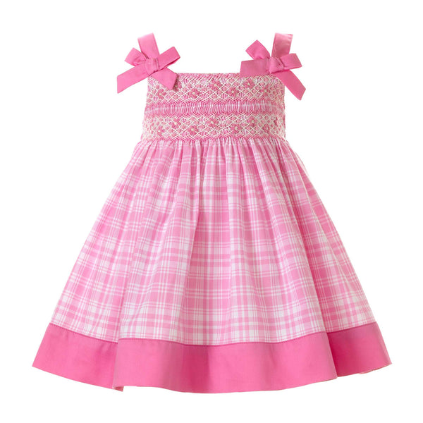 Checked Smocked Sundress & Bloomer