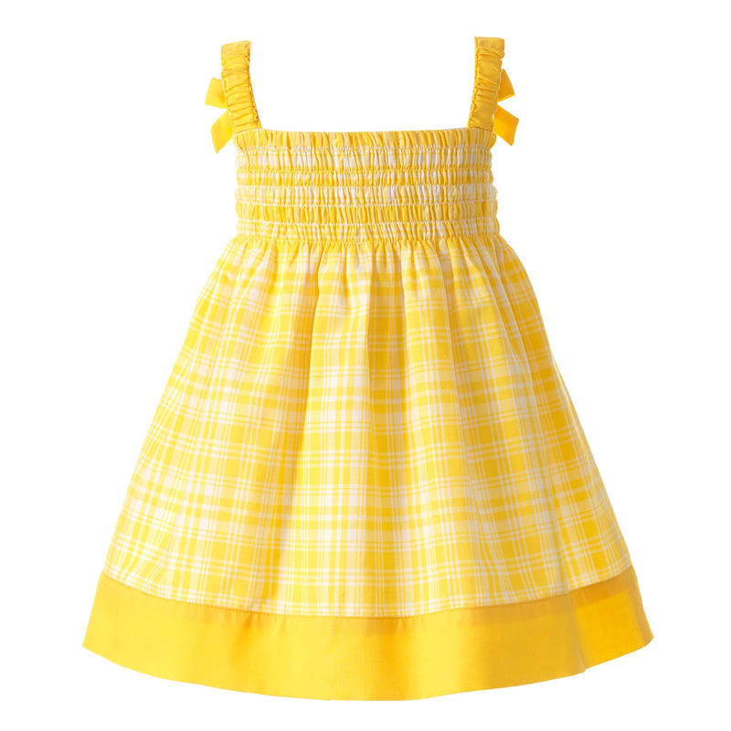Checked Smocked Dress & Bloomer