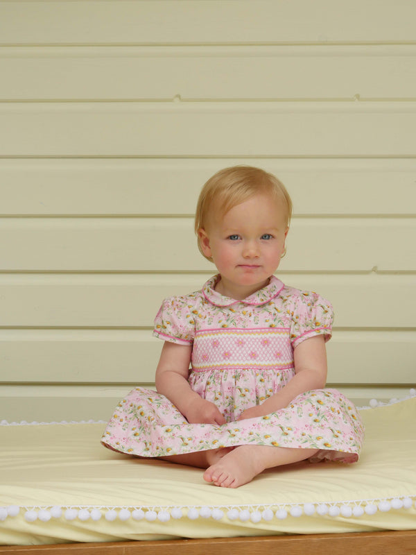 Daisy Smocked Dress & Bloomer