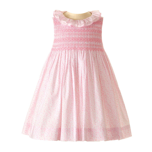 Pastel Lace Trim Smocked Dress & Bloomer