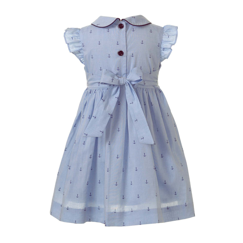 Oxford Anchor Frill Dress & Bloomer