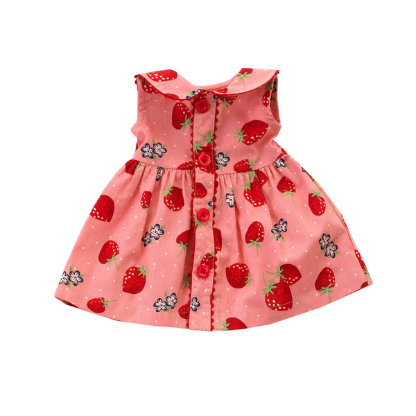 Dolly Strawberry Button Front Dress
