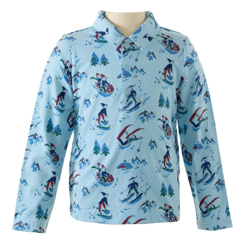Snow Scene Polo Shirt