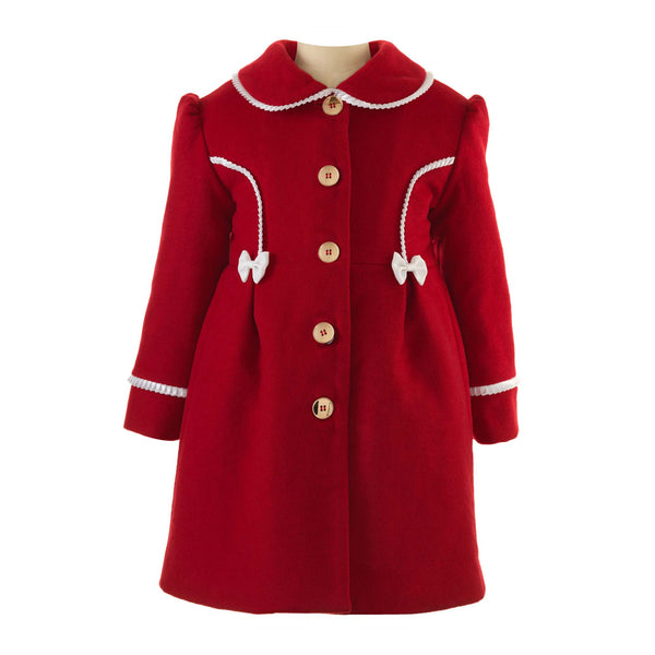 Girls Classic Vintage Style Frill Collar Skating Coat