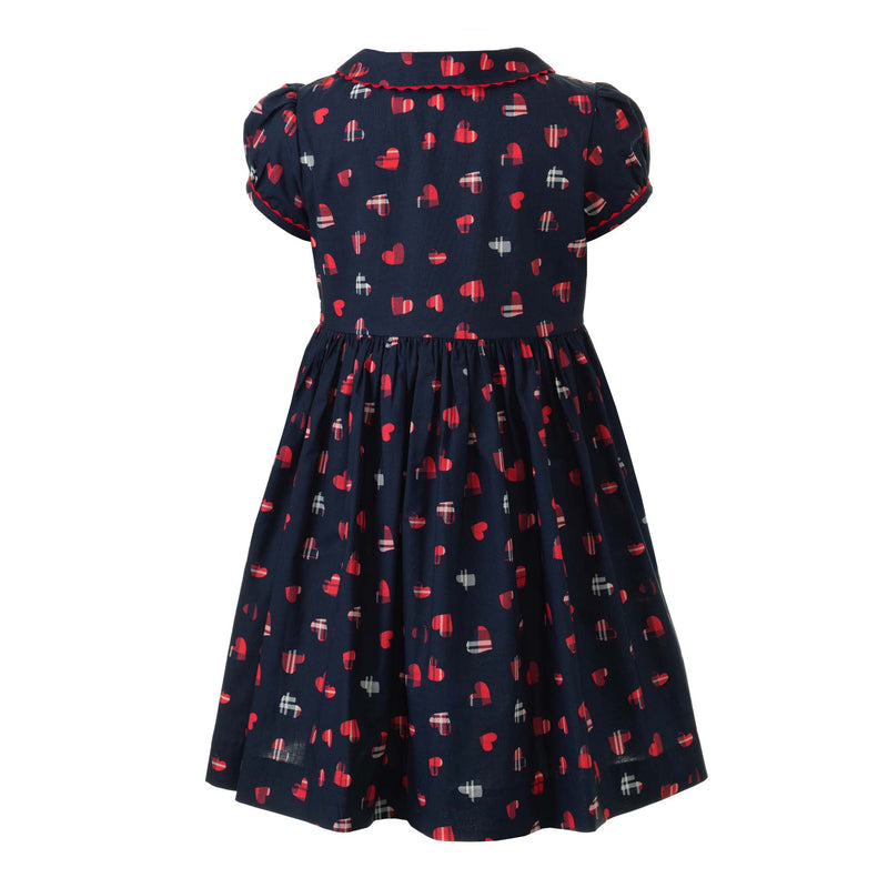 Tartan Heart Button Front Dress