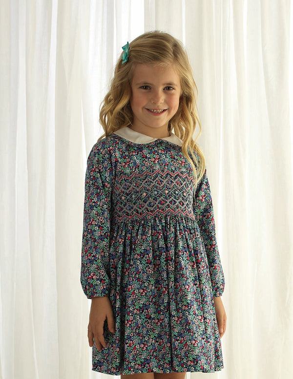 Enchanted Forest Smocked Dress