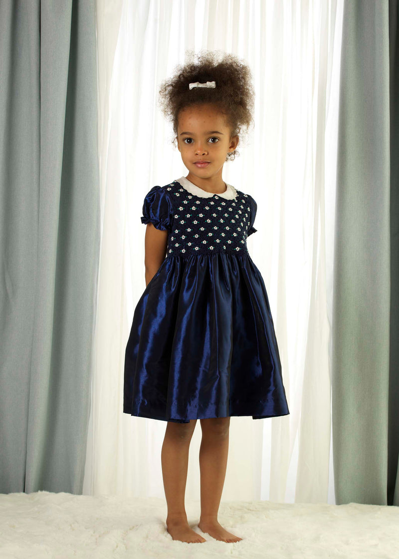 Taffeta Smocked Dress