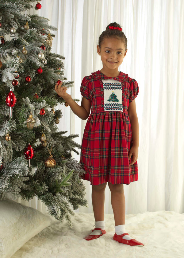 Christmas Tree Smocked Dress