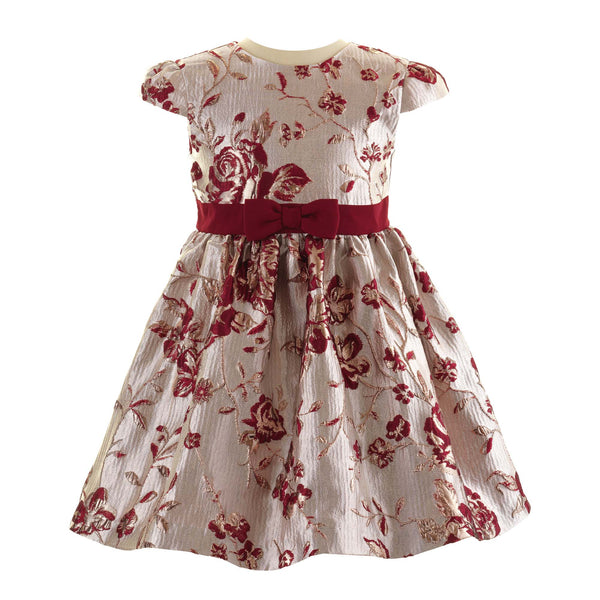 Girs Ruby Rose Damask Shimmering Gold Party Dress