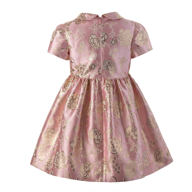 Shimmer Rose Damask Dress
