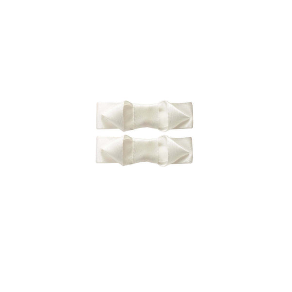 Ribbon Hairslide Set, Ivory