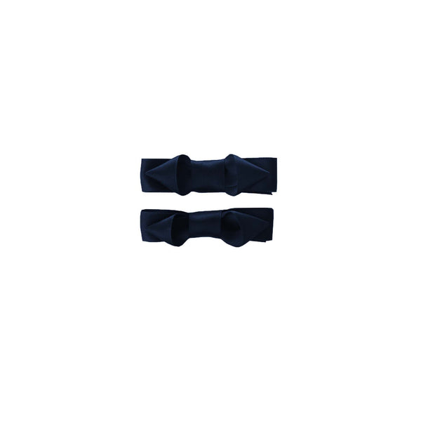 Ribbon Hairslide Set, Navy