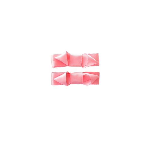 Ribbon Hairslide Set, Pale Pink