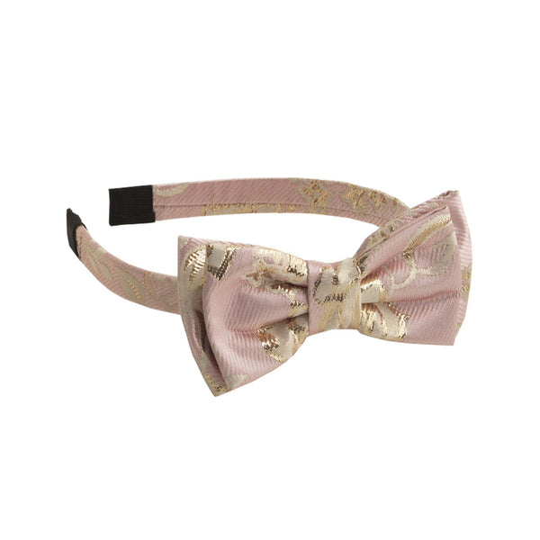 Shimmer Rose Damask Bow Hairband