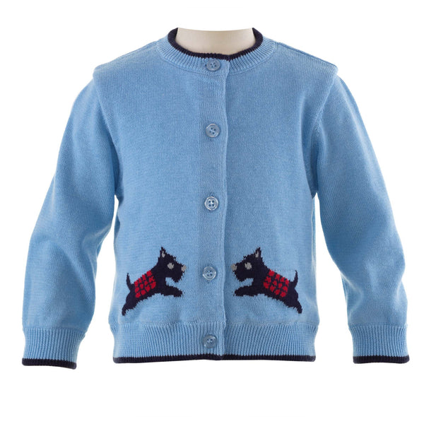 Scottie Dog Intarsia Cardigan