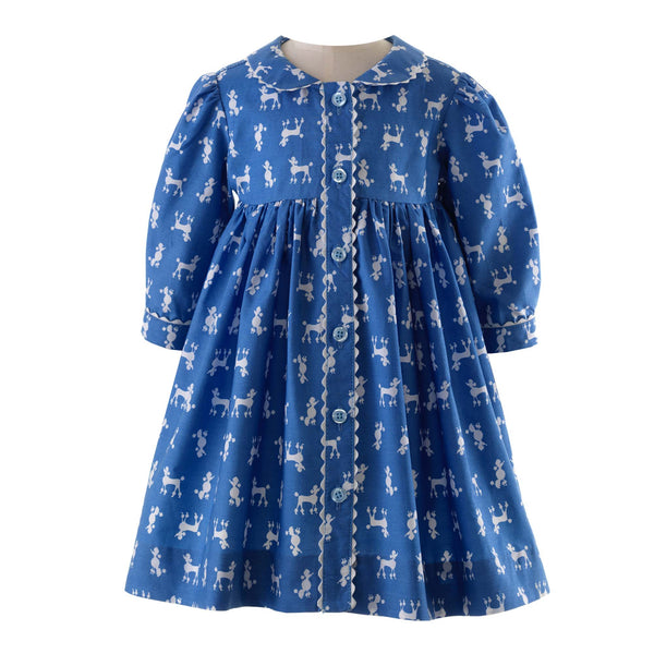Poodle Button Front Dress & Bloomers