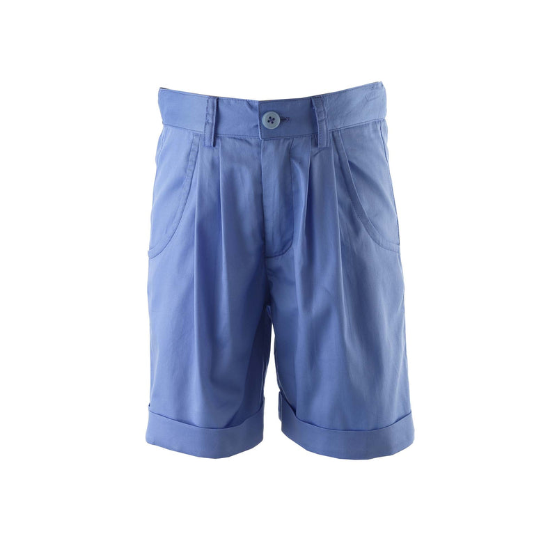 Blue Tailored Shorts