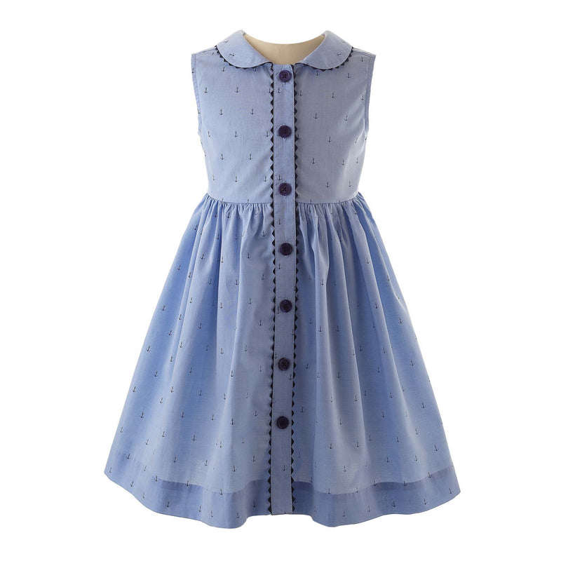 Oxford Anchor Button-Front Dress