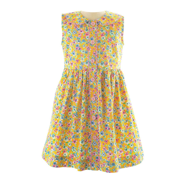 Summer Floral Button-Front Dress