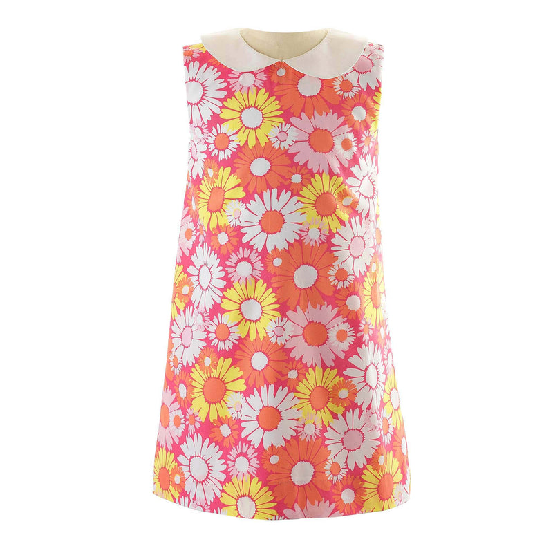 Flower 60's Shift Dress