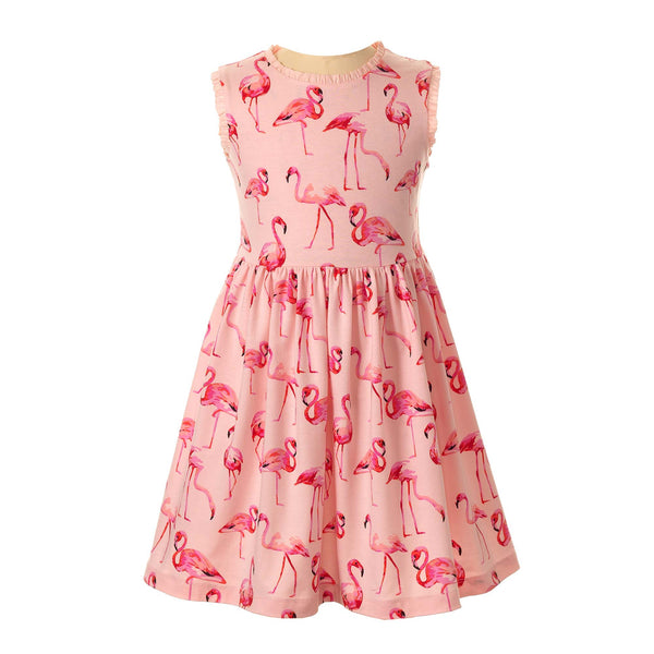 Flamingo Jersey Dress