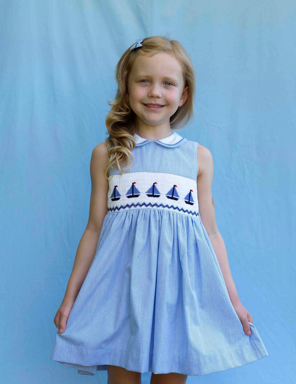 Sailboat Smocked Dress