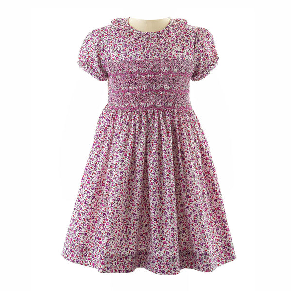 Ditsy Floral Frill Smocked Dress