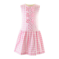 Gingham Taffeta Bow Dress