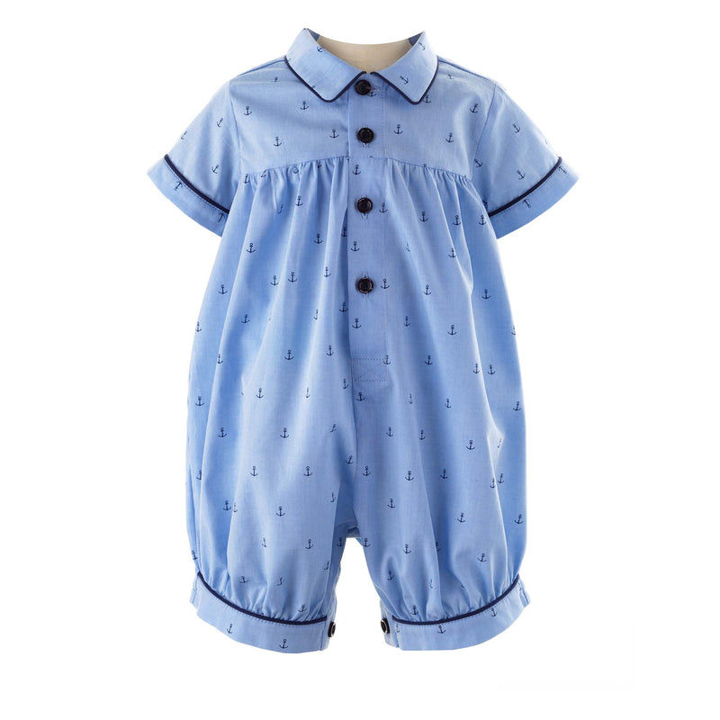 Oxford Anchor Babysuit