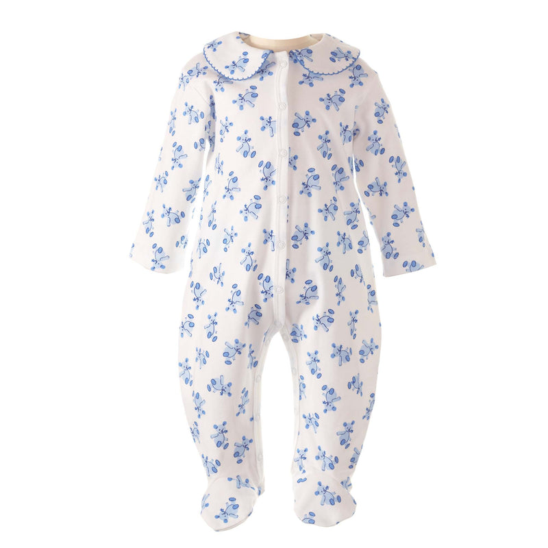 Blue Teddy Babygro