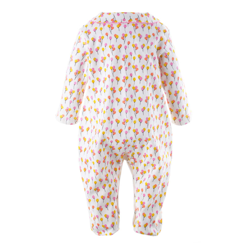 Balloon Print Footed Onesie for Baby Girls