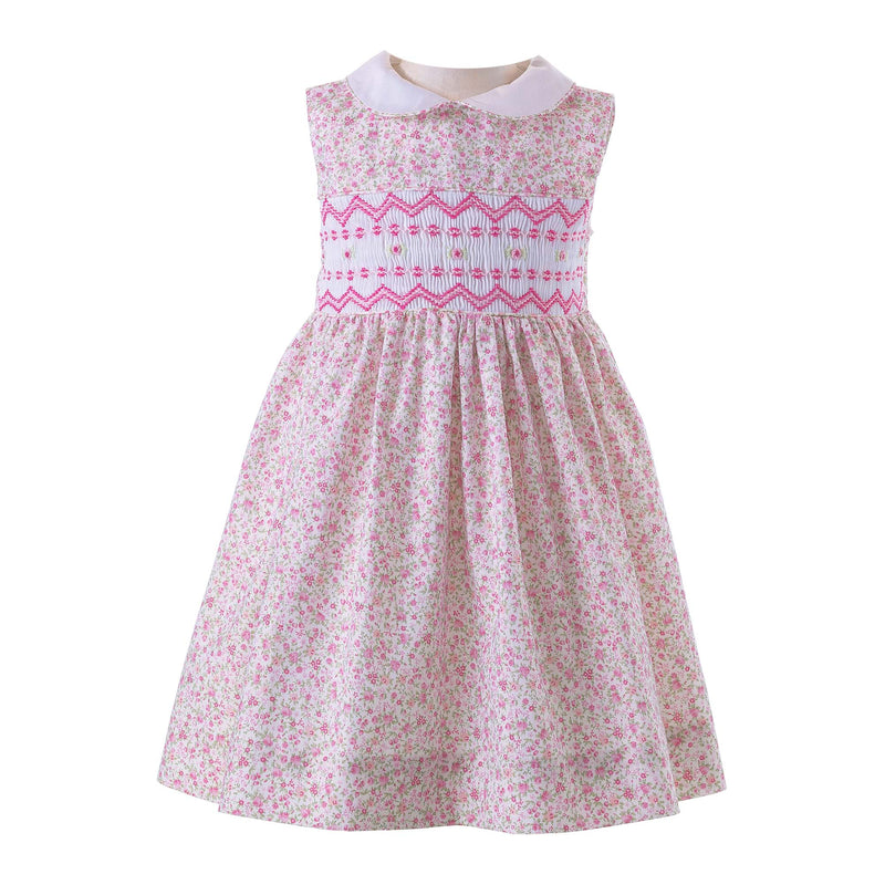 Ditsy Rose Smocked Dress & Bloomers