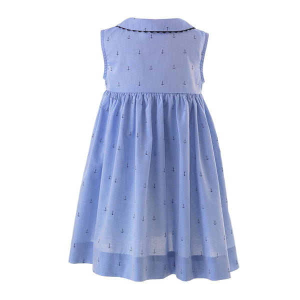 Oxford Anchor Button-Front Dress & Bloomers